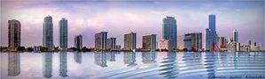 Bay Miami Beach at Sunset von Francesco Agostino