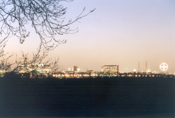 Bayer AG Leverkusen bei Nacht