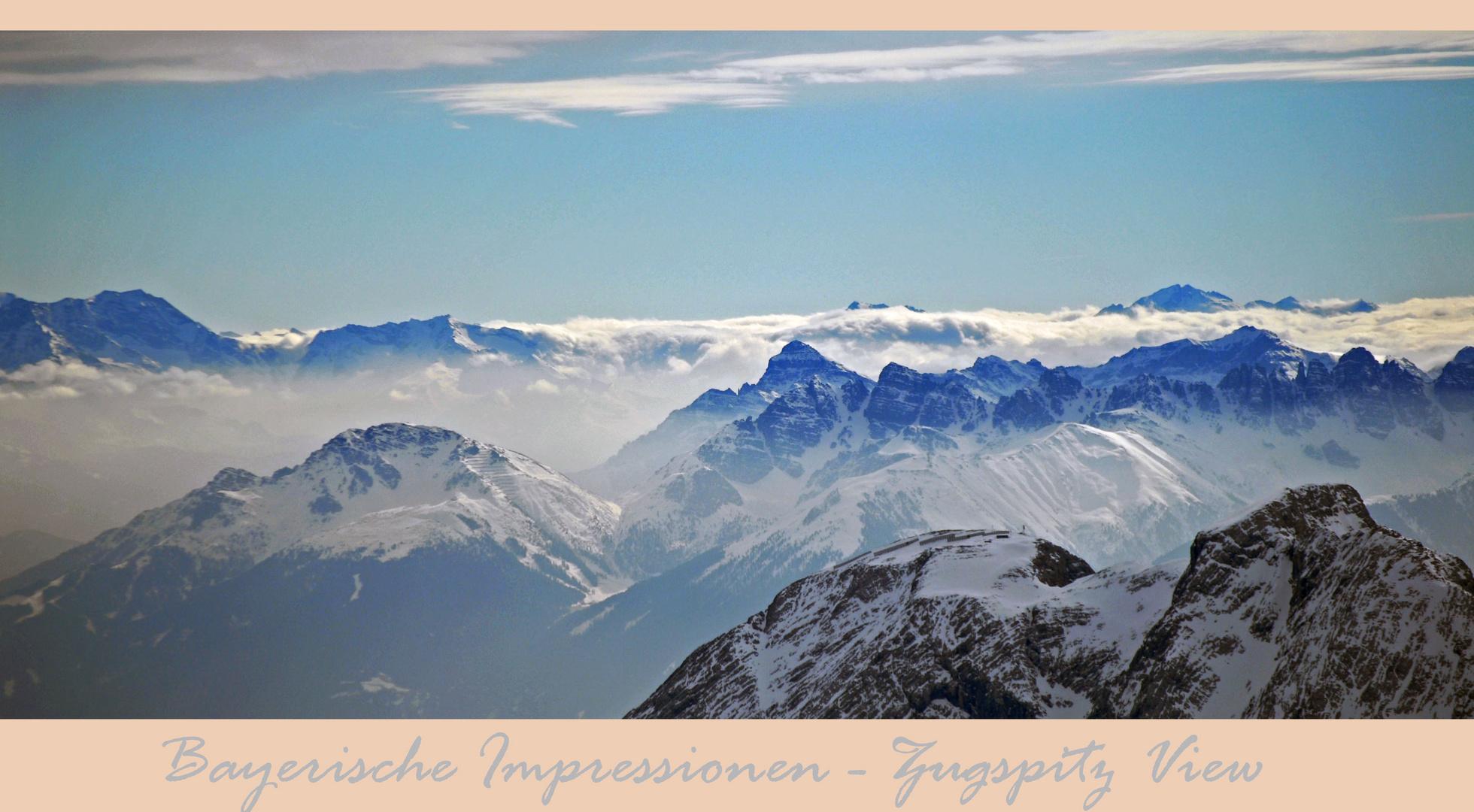 Bayerische Impressionen - Zugspitz view