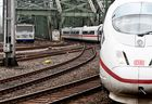 Bayerische Zugspitzbahn zu Besuch in Köln Fahrt zum Hauptbahnhof.