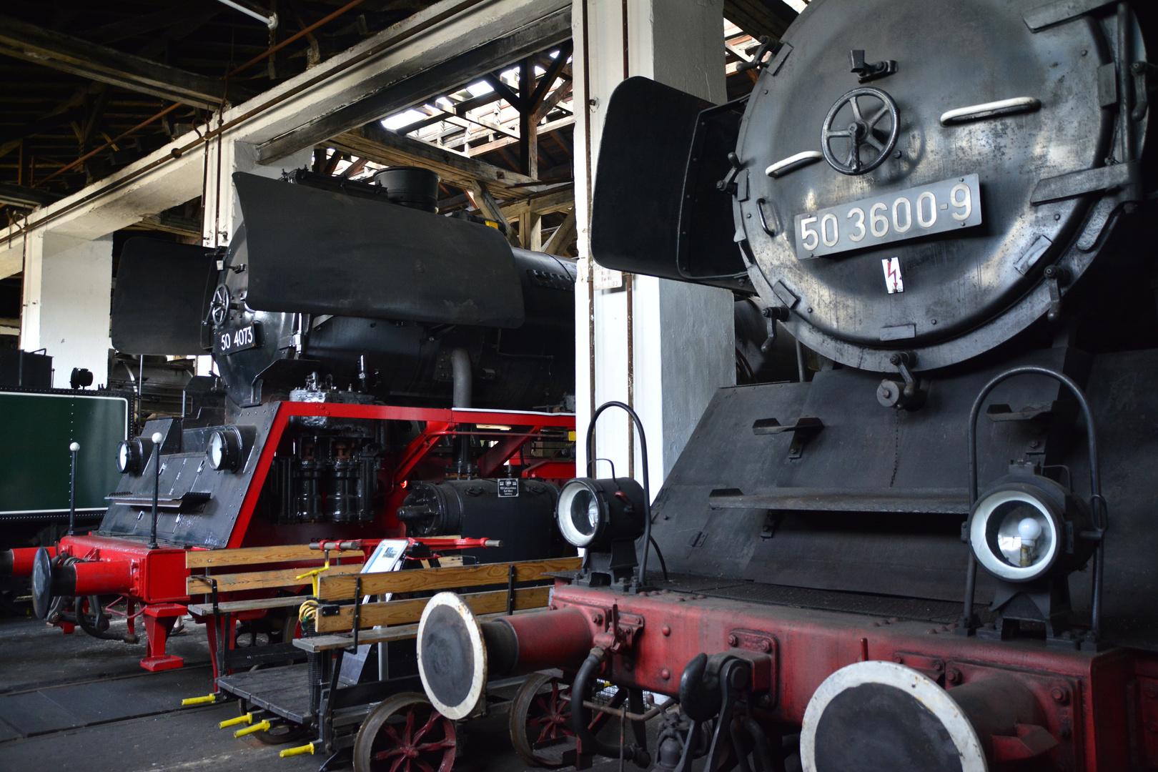 Bayerisches Eisenbahnmuseum zwei 50-er