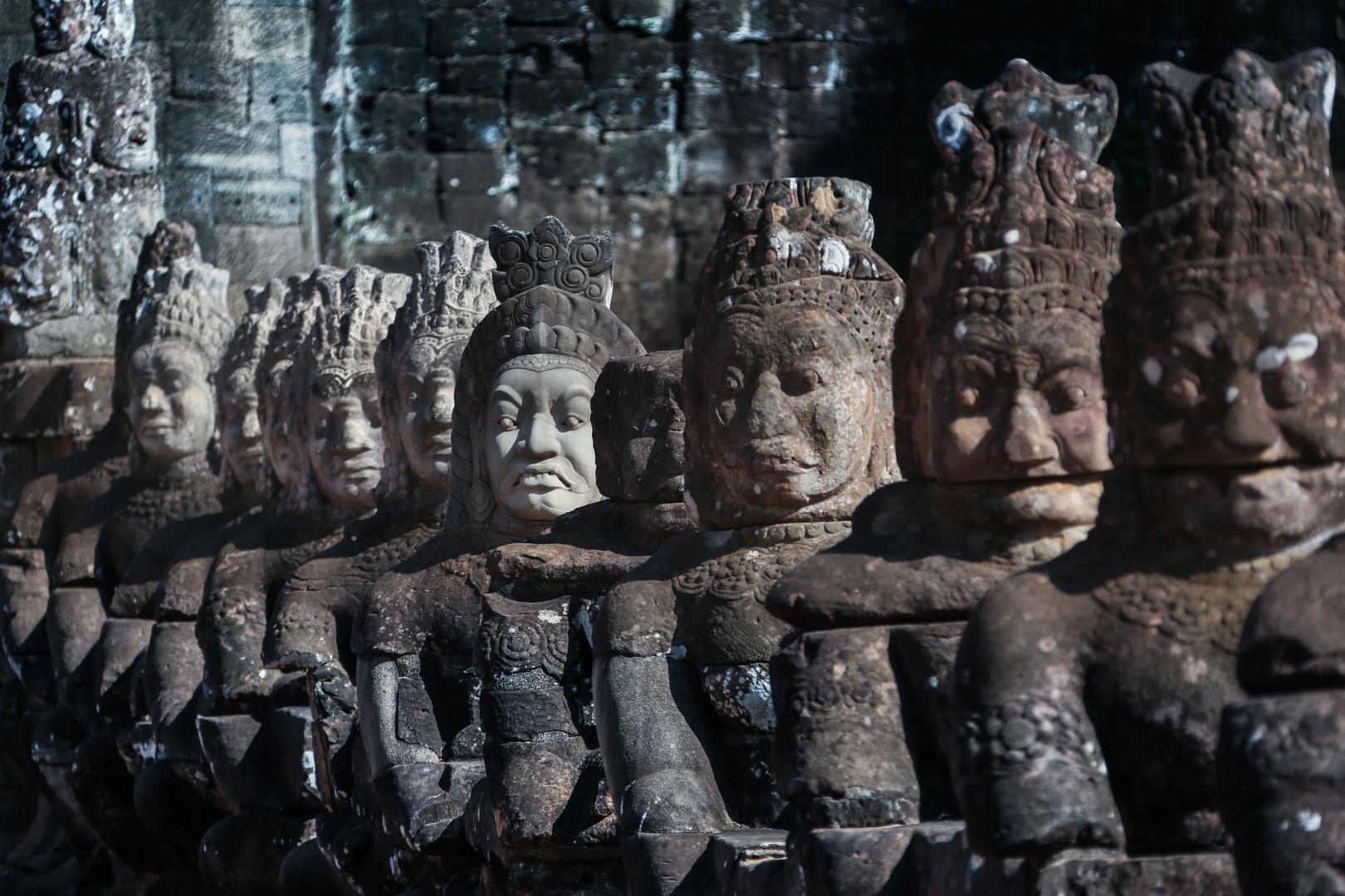 Bayon Eingangstor Figuren