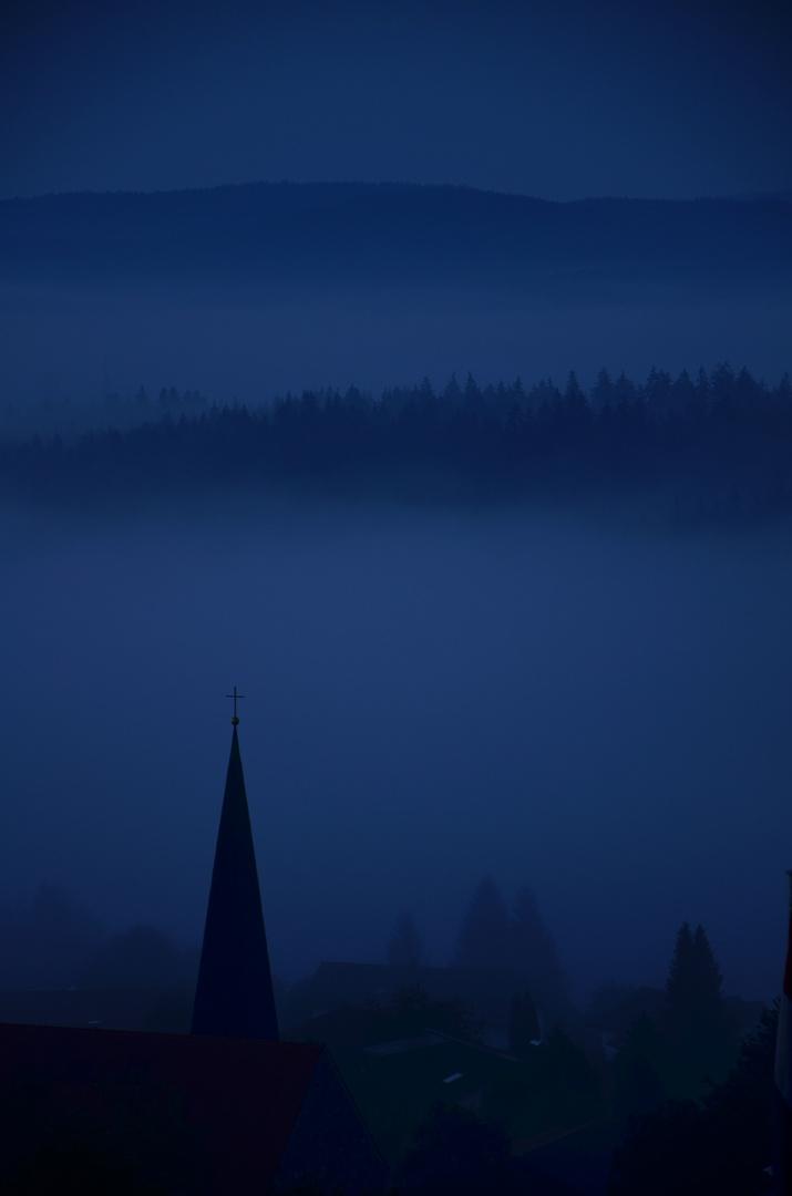 Bayrischer Wald kurz vor Sonnenaufgang