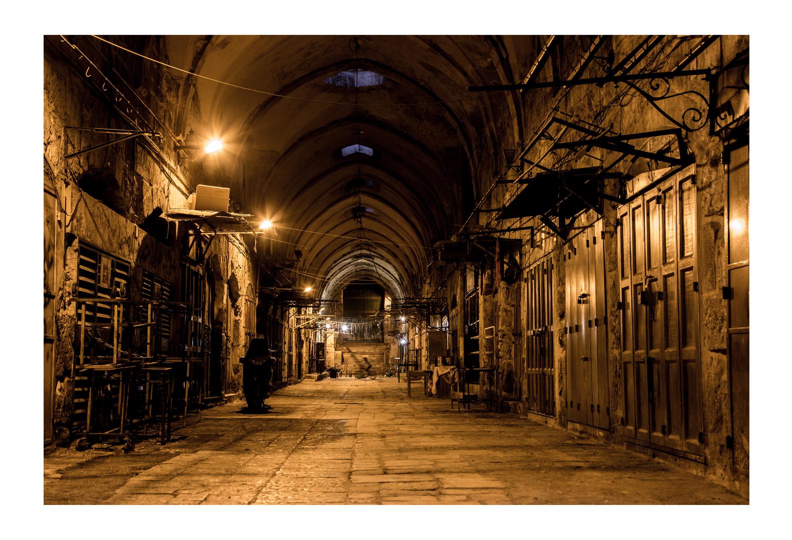 Bazar at night