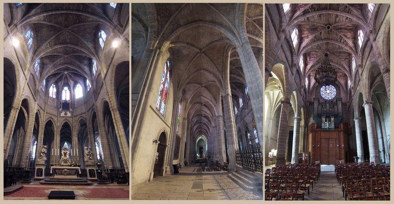 Bazas  -  Vues intérieures de la Cathédrale Saint-Jean-Baptiste