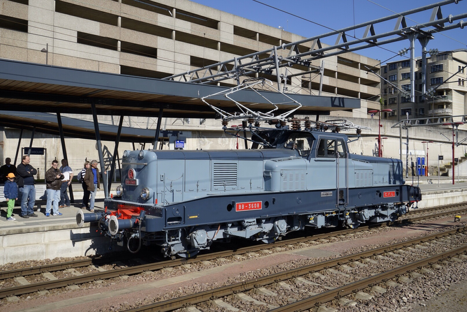 BB 3608 im Bahnhof Luxemburg