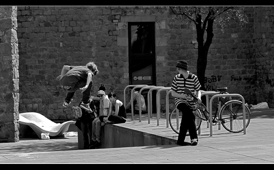 BCN street - skating (I)