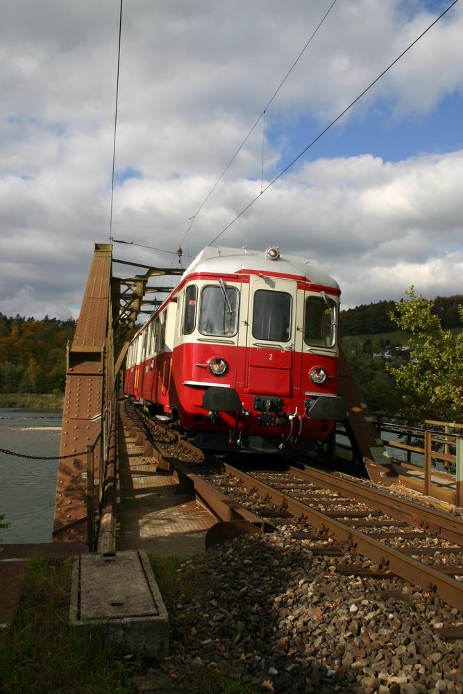 BDe 4/4 2 der Draisinen-Sammlung Fricktal bei Koblenz (Schweiz)