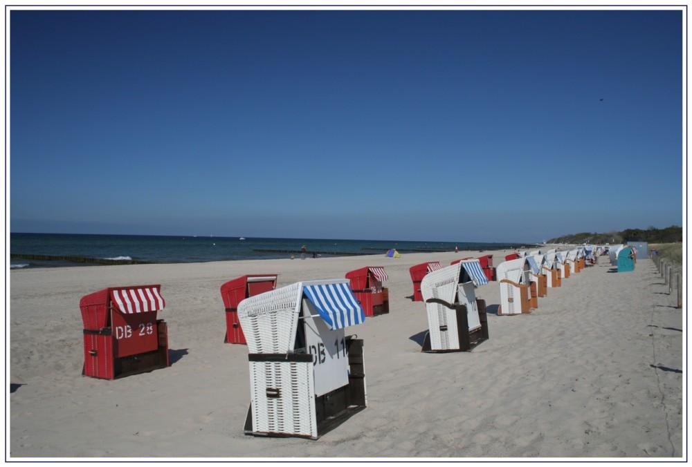 Beach Chairs at the Eastern Sea