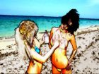 Beach Girls Cartoon