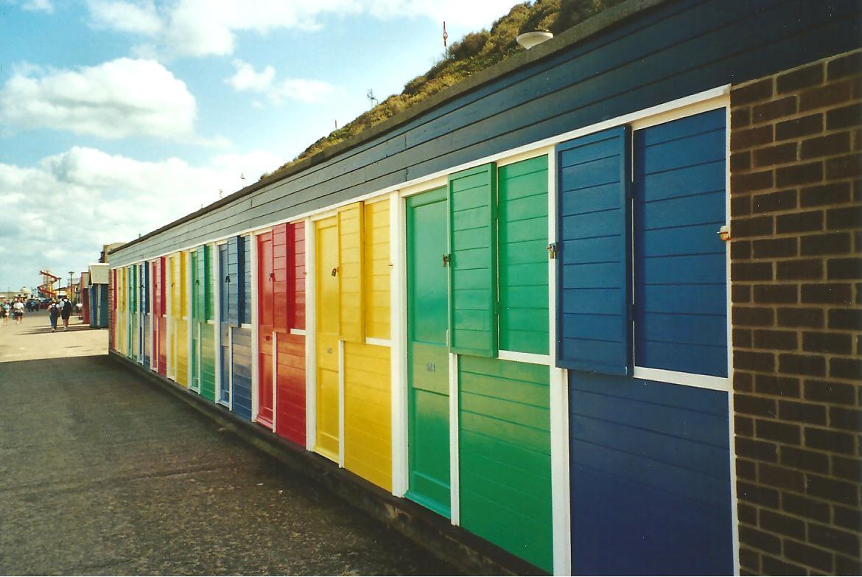 """Beach huts"" in Cromer, Norfolk"