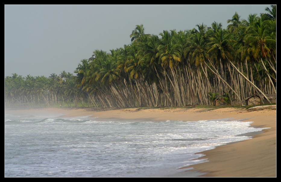 ... Beach near Princess Town, Ghana ...