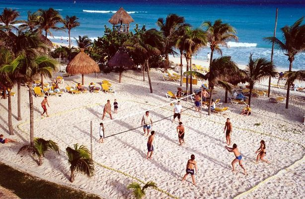 "Beachvolleyball     ""Playa del Carmen"""
