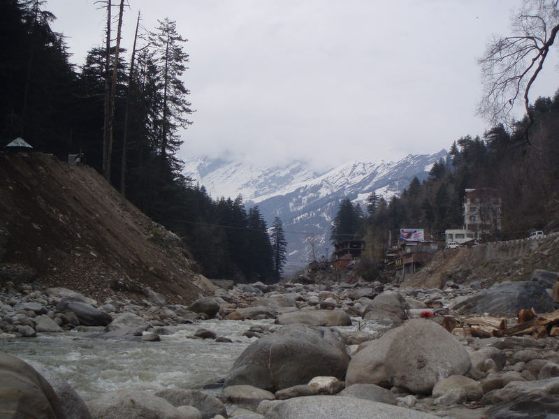 Beas River with Pir Panjal Ranges of Greater Himalyas in background