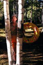 Beatiful young woman in Bush