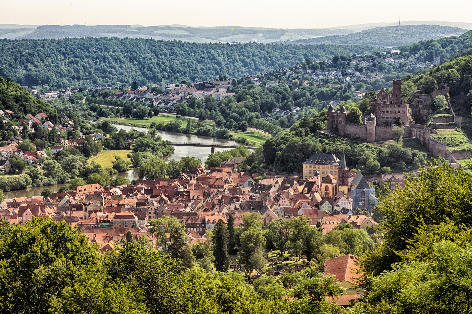 Beautiful old Wertheim Castle & Town