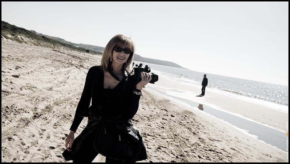 Beautiful photographer, beautiful beach