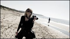 Beautiful photographer, beautiful beach