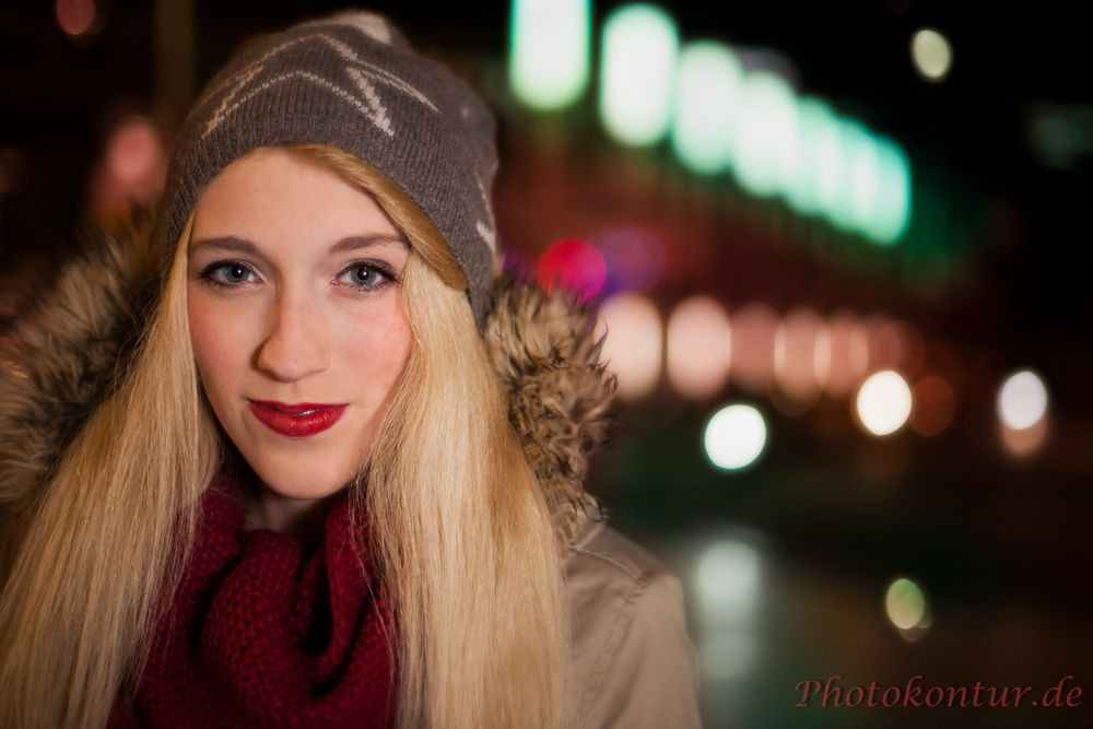 Beauty eyes and city lights - Portraitfotografie in Hannover