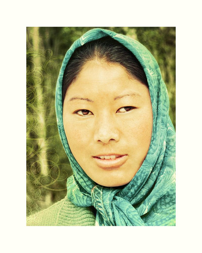 beauty  young tibetan woman