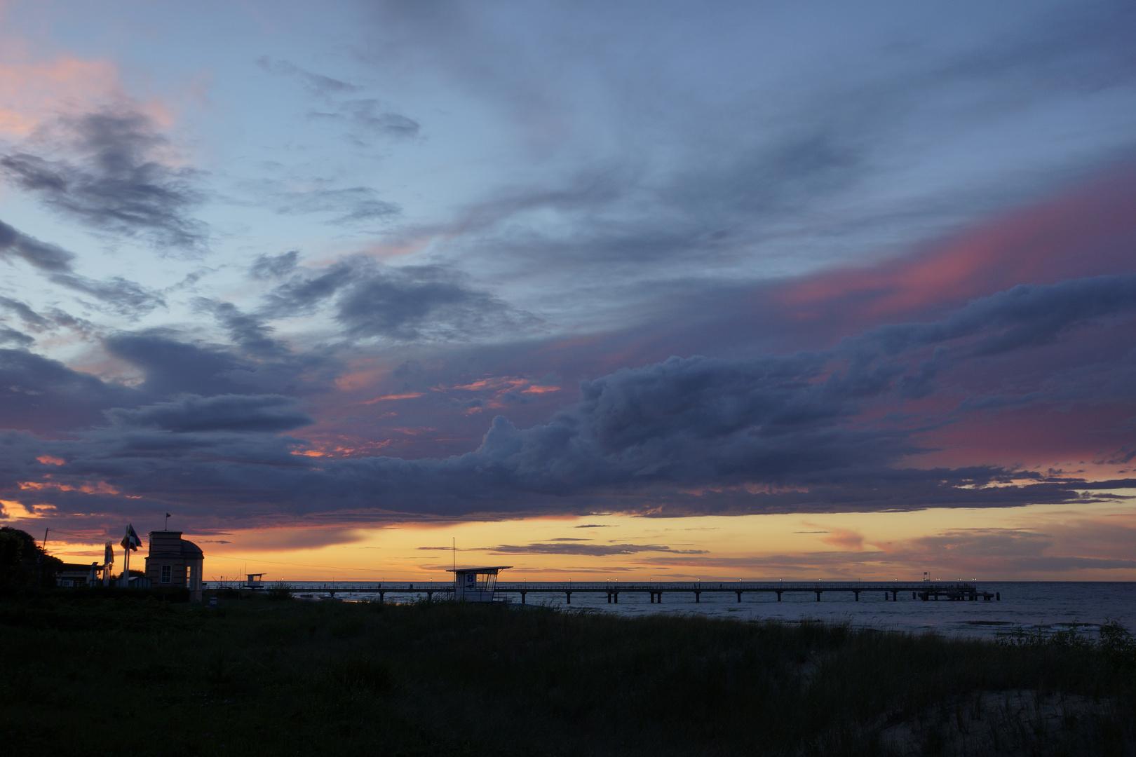 Bedrohlicher Sonnenuntergang