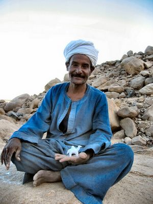 Beduine in der Wüste