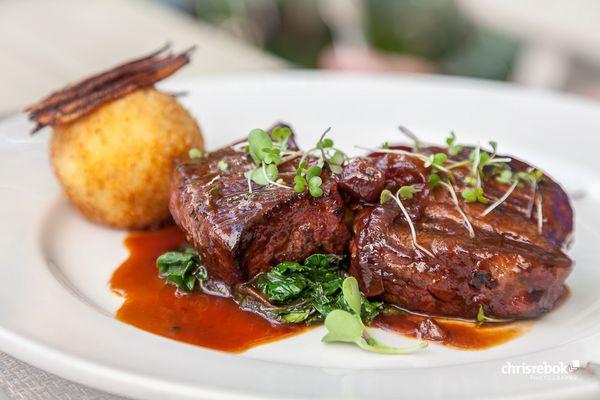 Beef Filet genossen auf Clos Malverne Wine Estate bei Stellenbosch