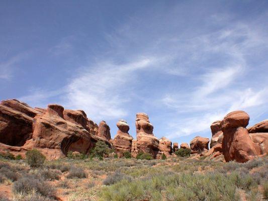 beeindruckende Landschaft im Arches NP
