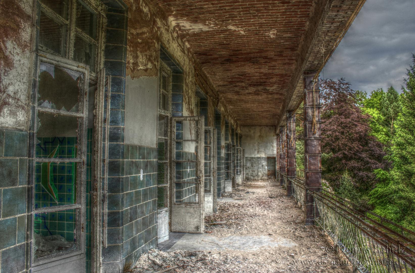 Beelitz Heilstätten Chirugie Balkon