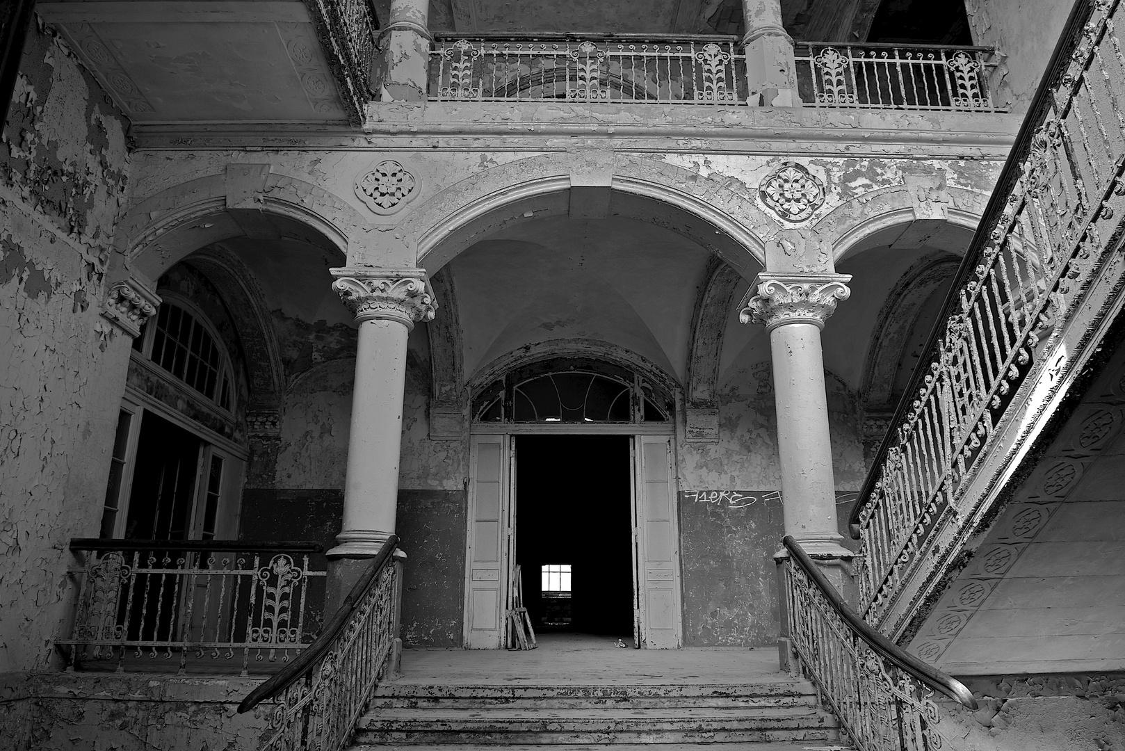 Beelitz Heilstätten Sanatorium Eingang