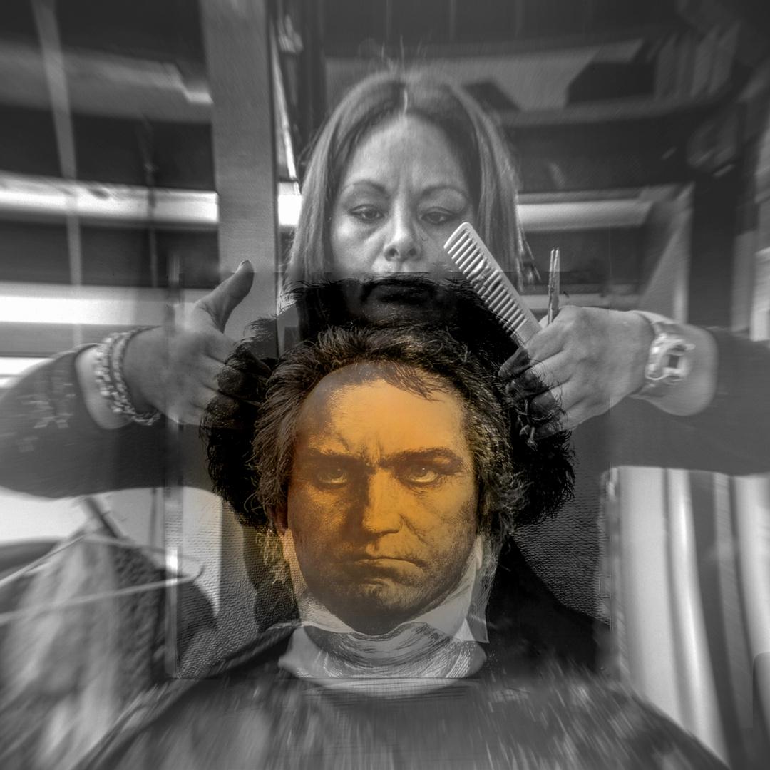 Beethoven beim Frisör