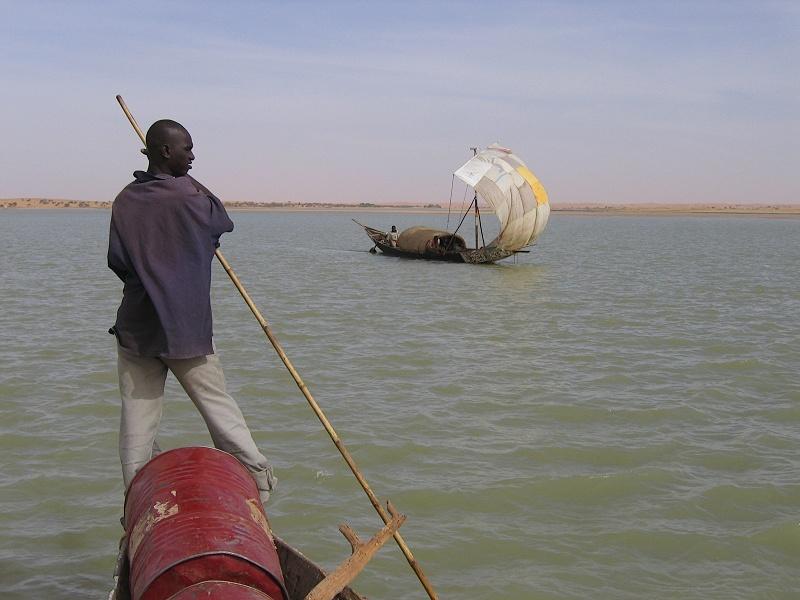 Begegnung auf dem Niger