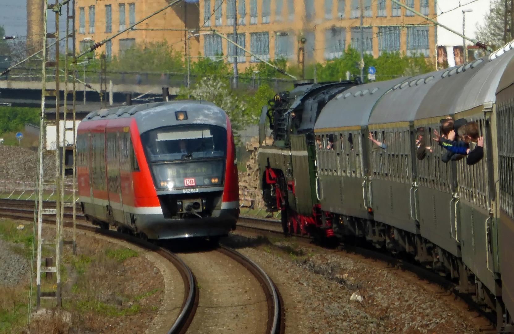 Begegnung mit dem Siemens Desiro Classic