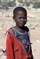 Begegnung mit einem Hererojungen in Namibia