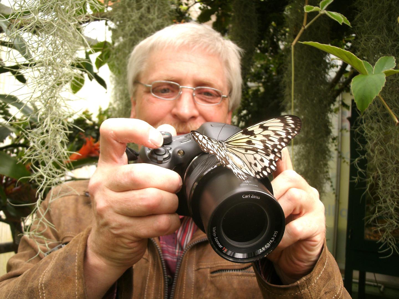 Begegnung zwischen Mensch und Schmetterling!