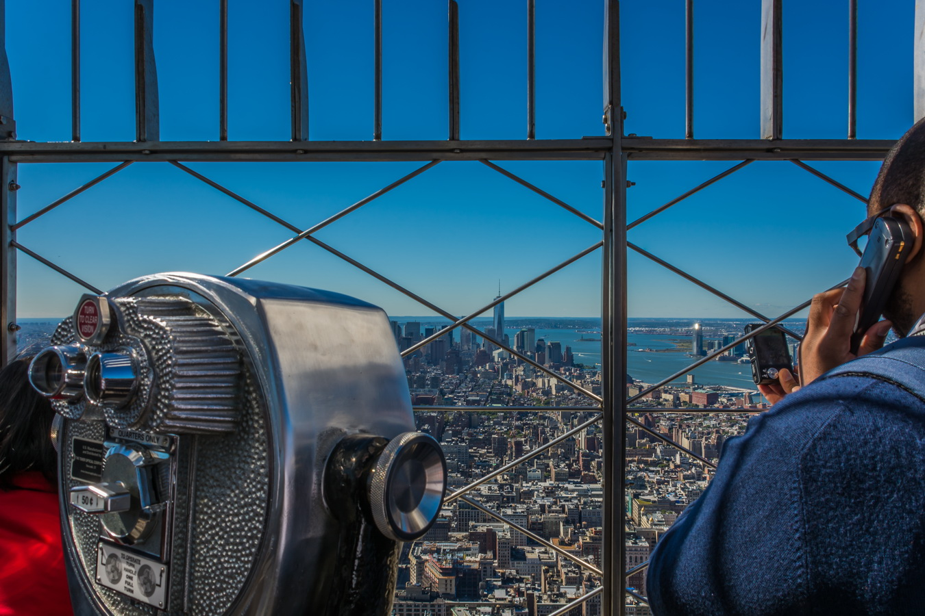 begehrter Blick auf Downtown Manhatten