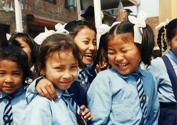 begeisterte Schülerinnen