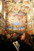 Begeisterung in der sixtinischen Kapelle