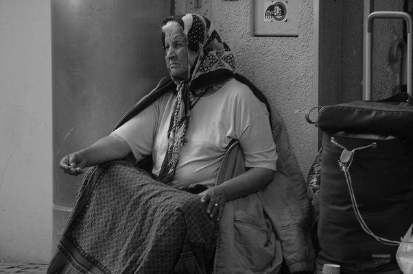 beggar woman.