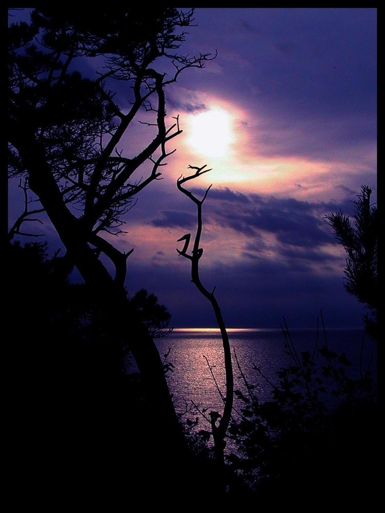 Beginnender Sonnenuntergang