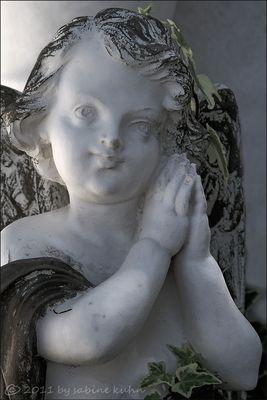 . . . begraben auf santorin [9] . . . der zärtlich umrankte engel . . .