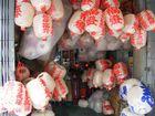 Begraebnisslaternen in Chinatown