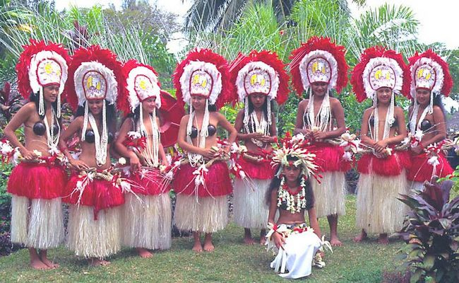 Begrüßung auf der Insel Tahiti