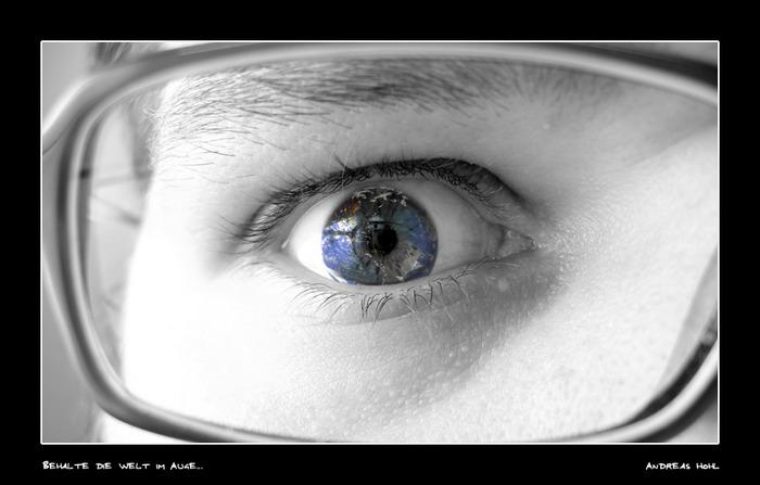 Behalte die Welt im Auge...