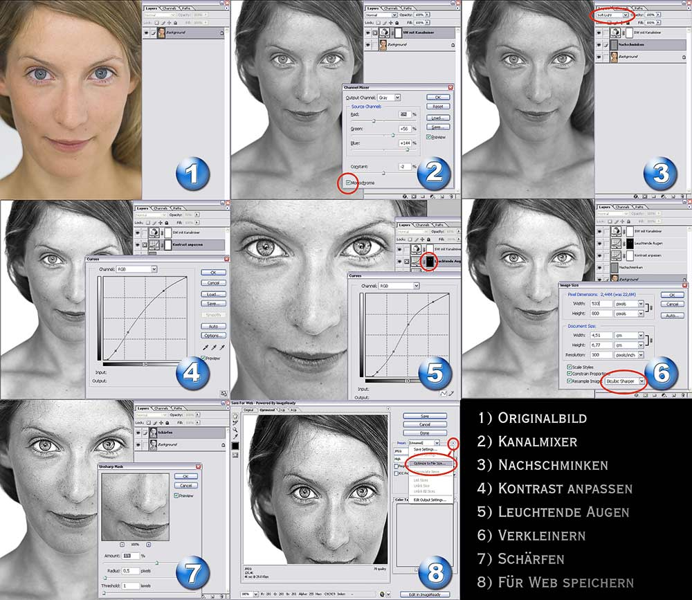 "Behind blue eyes: Das Photoshop""How-To"""