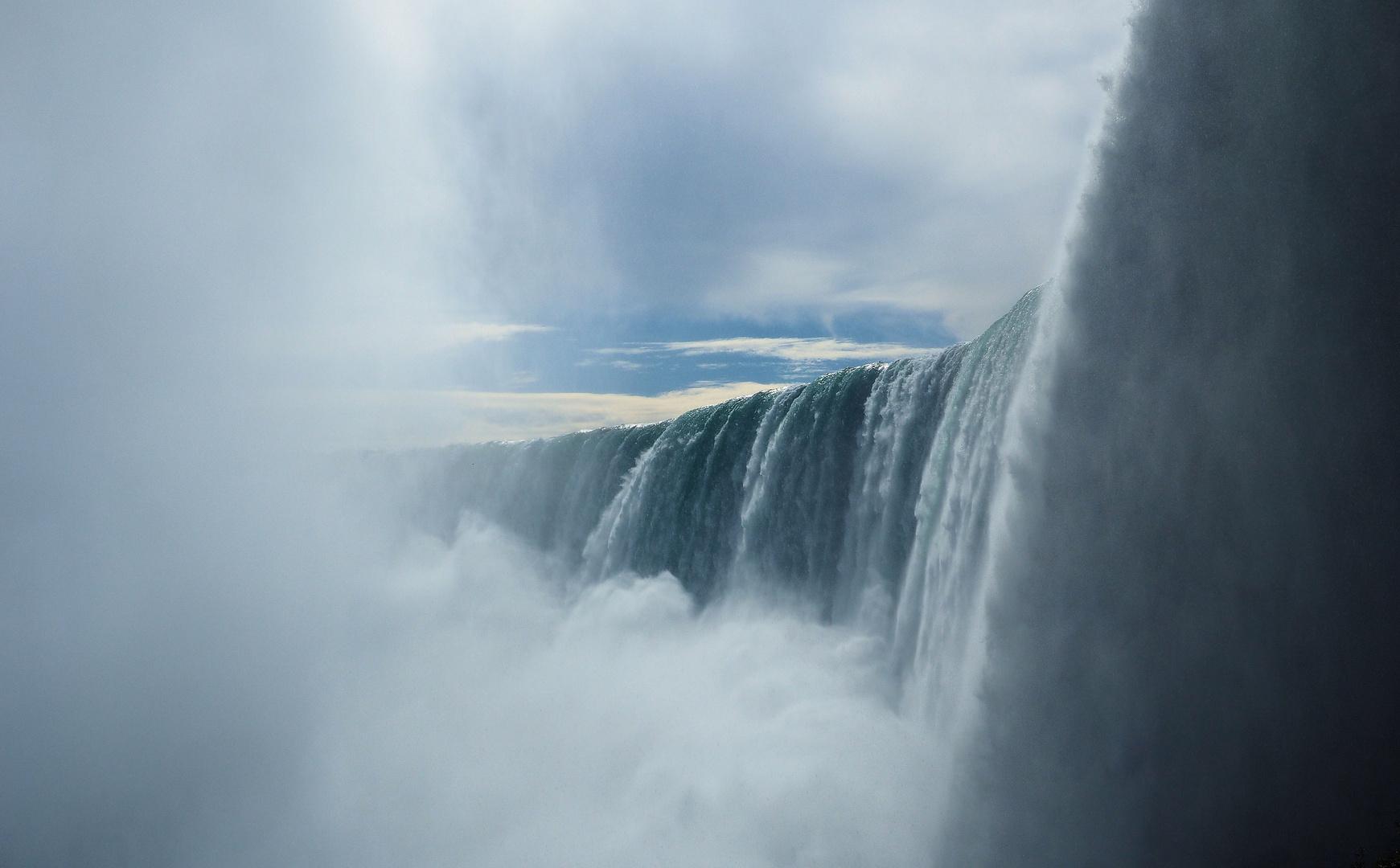 Behind the falls....