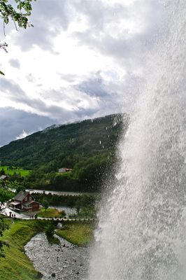 Behind The Waterfall.