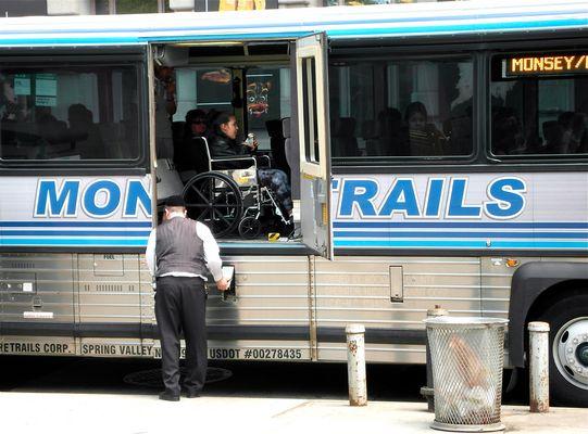 behindertengerechter Bus in New York