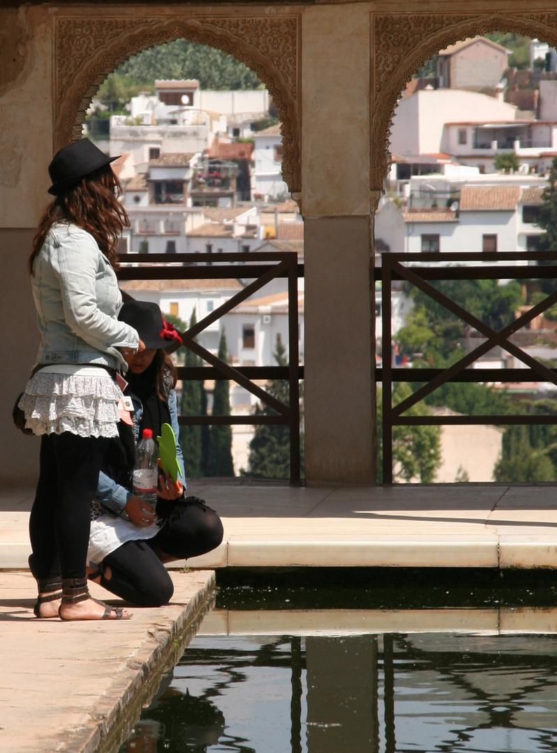 Behütete Grazien auf der Alhambra