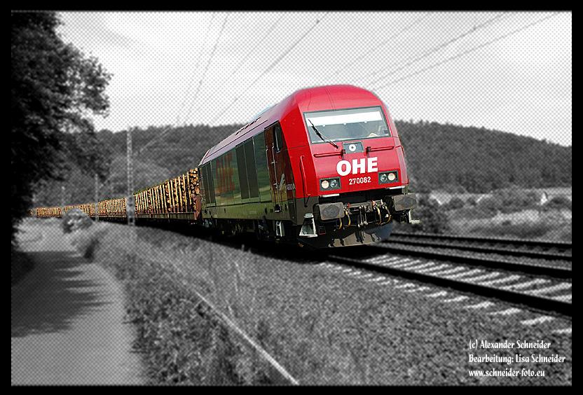 Bei Bürgeln auf der Main - Weser Bahn...